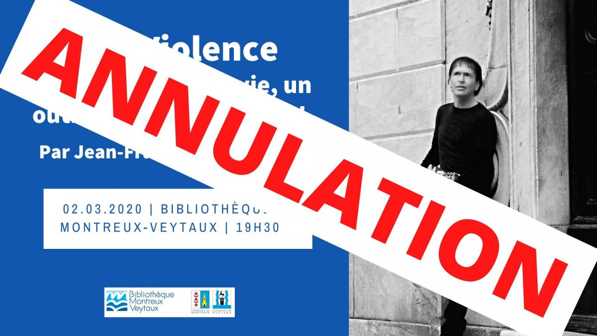 [ANNULATION] Conférence Non-Violence par Jean-François Bernardini
