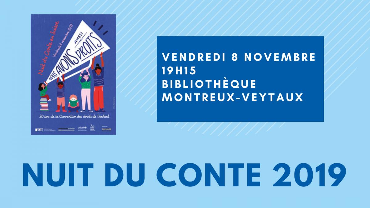Nuit du conte à la Bibliothèque Montreux-Veytaux